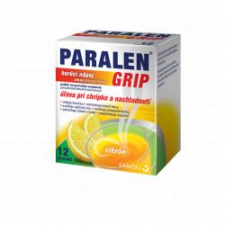 PARALEN GRIP horúci nápoj citrón 650 mg/10 mg 12 ks