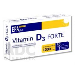 Vitamin D3 FORTE 1000 I.U. EPAplus tbl 1x30 ks