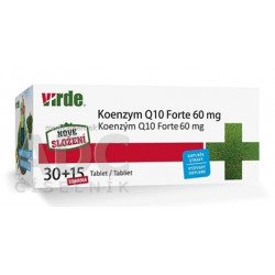 VIRDE KOENZYM Q10 Forte 60 mg tbl 30+15 zdarma (45 ks)