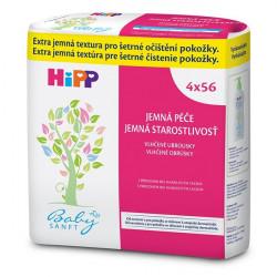 HiPP BabySANFT Vlhčené obrúsky 4 x 56 ks