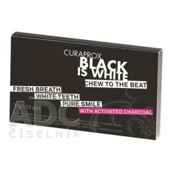 CURAPROX Black is White žuvačky 12 ks