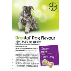 Drontal Dog Flavour 150/144/50 mg tablety tbl 6x4 ks (24 ks)