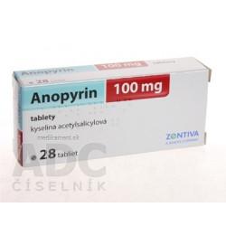 Anopyrin 100 mg tbl (blis.) 1x28 ks