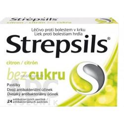 Strepsils Citrón bez cukru pastilky 24 ks