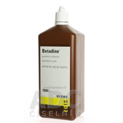 Betadine dezinfekčné mydlo 75 mg/ml sol der 1000 ml