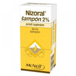 Nizoral šampón 2% proti lupinám 60 ml