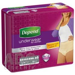 DEPEND MAXIMUM S/M pre ženy naťahovacie nohavičky, 1x10 ks