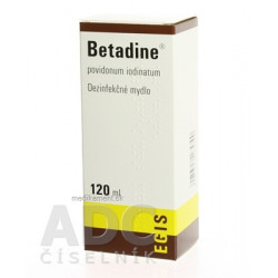 Betadine dezinfekčné mydlo 75 mg/ml sol der 120 ml
