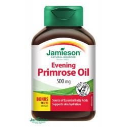 JAMIESON PUPALKOVÝ OLEJ s vitamínom E 500 mg  kapsuly 180 ks