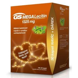 GS MegaLecitín 1325mg kapsuly 100+30 ks + darček 2021