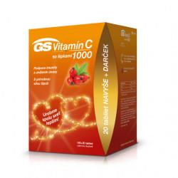 GS Vitamín C 1000 so šípkami tablety 100+20 ks + darček 2021
