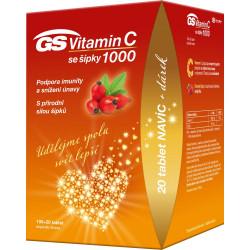 GS Vitamín C 500 so šípkami tablety 100+20 ks + darček 2021