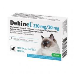 DEHINEL 230 mg/20 mg pre mačky tabety 2 ks