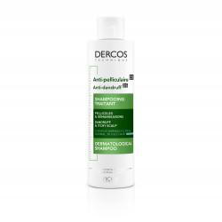 VICHY DERCOS ANTI-PELLICULAIRE Šampón proti mastným lupinám, normálne vlasy 200 ml