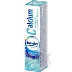 Revital Calcium+MAGNÉZIUM+VITAMÍNY C, B6, D3, K1 s príchuťou citrónu 20 ks