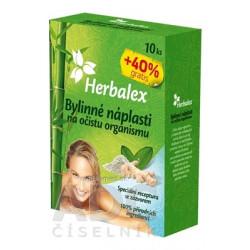 Herbalex Bylinné náplasti na očistu organizmu 10 ks +40% gratis (14 ks)