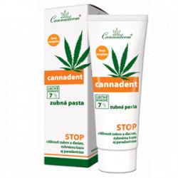 Cannaderm CANNADENT zubná pasta ošetrujúca zásaditá 75 g