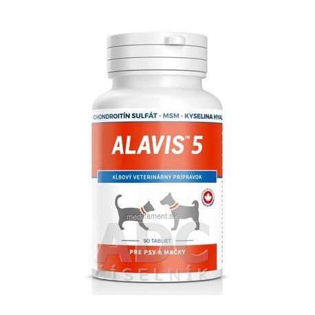 ALAVIS 5 tablety pre psy a mačky 90 ks