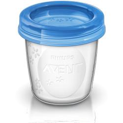 AVENT VIA poháriky s vrchnákmi 180 ml 5 ks