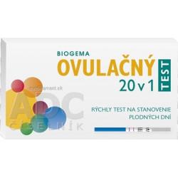 BIOGEMA OVULAČNÝ TEST 20 v 1 rýchly test na stanovenie plodných dní 1x20 ks