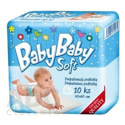 BabyBaby Soft prebaľovacie 60 x 60 cm 10 ks