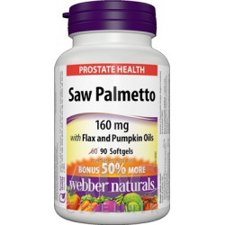 Webber Naturals Prostata Saw Palmetto 160 mg tbl (BONUS 50% naviac) 1x90 ks