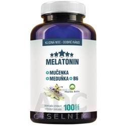 Pharma Activ MELATONIN + Mučenka + Meduňka + B6 tbl (medovka) (inov.2019) 1x100 ks