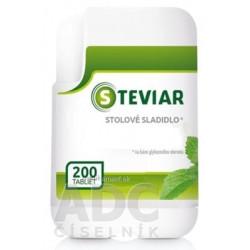 STEVIAR stolové sladidlo tabletové sladidlo na báze glykozidov steviolu 1x200 ks