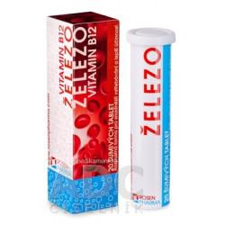 ŽELEZO + Vitamín B12 - RosenPharma tbl eff 1x20 ks