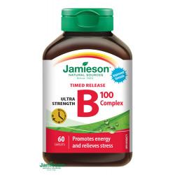 JAMIESON B-KOMPLEX 100 mg s postupným uvoľnovaním 60 ks