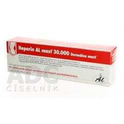 Heparin AL masť 30 000 ung der (tuba Al) 1x100 g