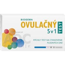 BIOGEMA OVULAČNÝ TEST 5 v 1 rýchly test na stanovenie plodných dní 1x5 ks