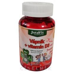 JutaVit Vápnik + vitamín D3 Kids žuvacie tablety 1x30 ks