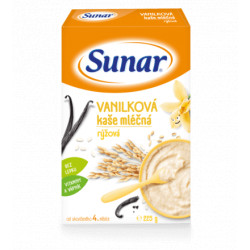 SUNAR MLIEČNA KAŠA  RYŽOVÁ vanilková  225 g