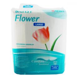 BATIST FLOWER Podložka pod chorých 60x90 cm, large, absorpčná, 1x25 ks