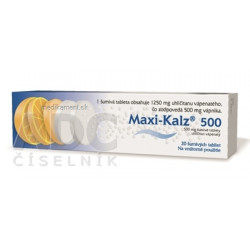 MAXI-KALZ 500 tbl eff 500 mg (tuba PP) 1x20 ks
